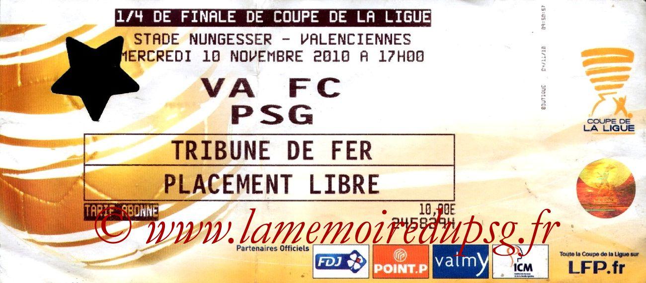 2010-11-10  Valenciennes-PSG (Quart Finale CL)