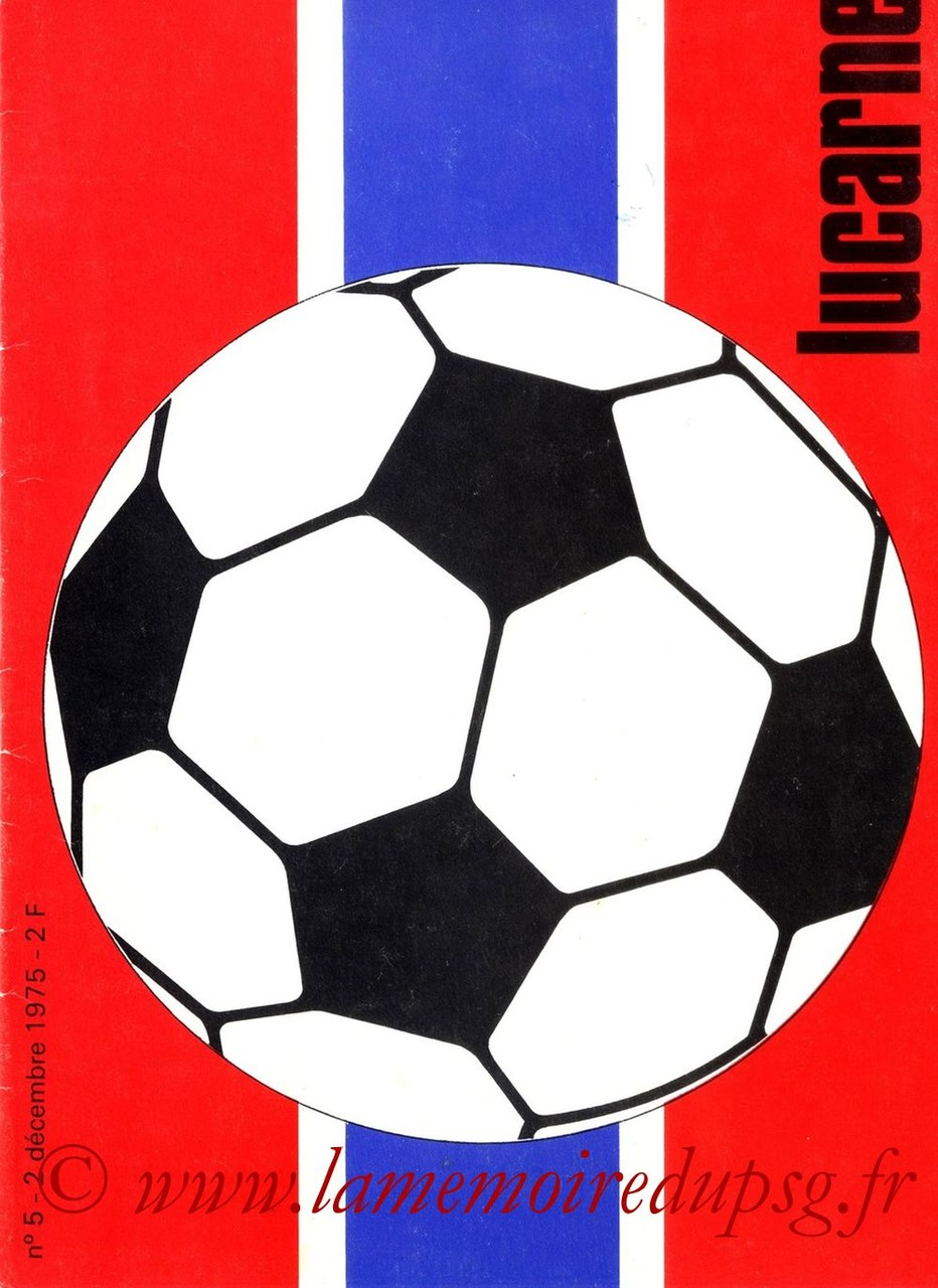 1975-12-02  PSG-Dynamo Kiev (Amical au Parc des Princes, Lucarne N°5)