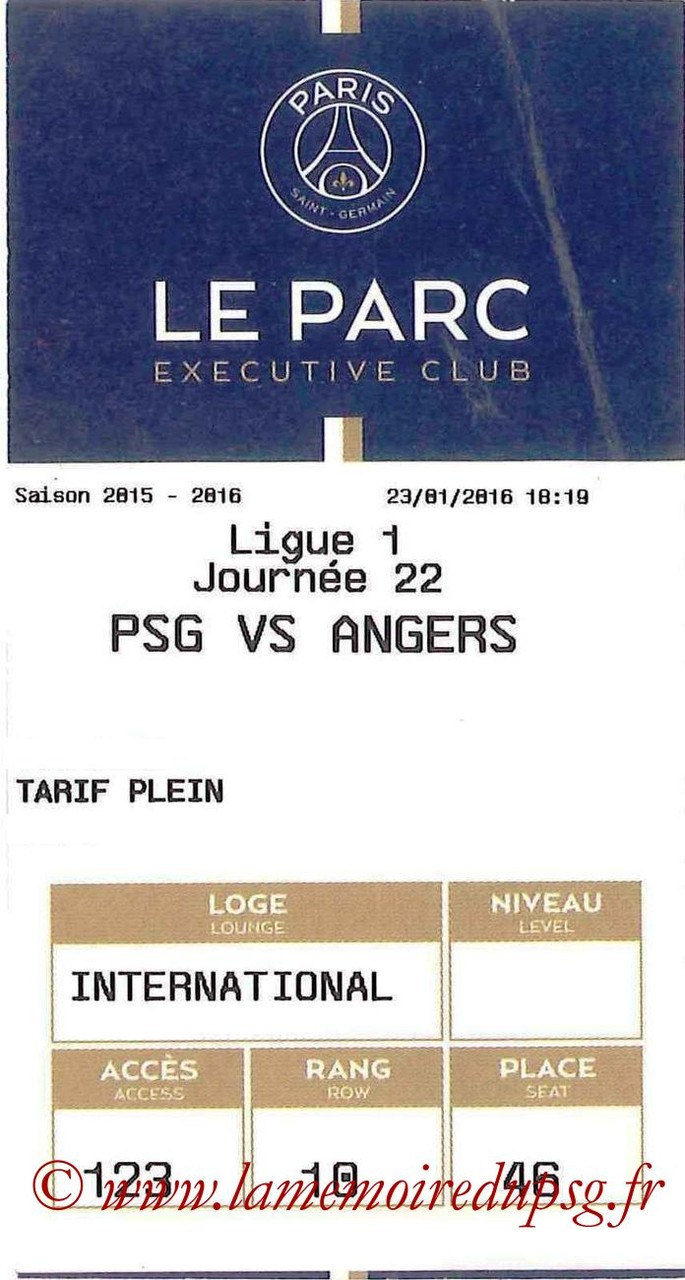 2016-01-23  PSG-Angers (22ème L1, E-ticket Executive club)