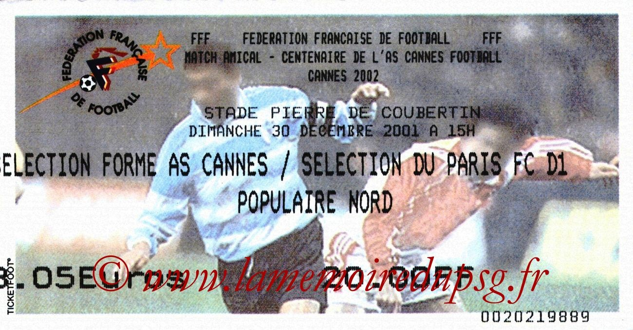 2001-12-30  AS Cannes-PSG (Centenaire AS Cannes)