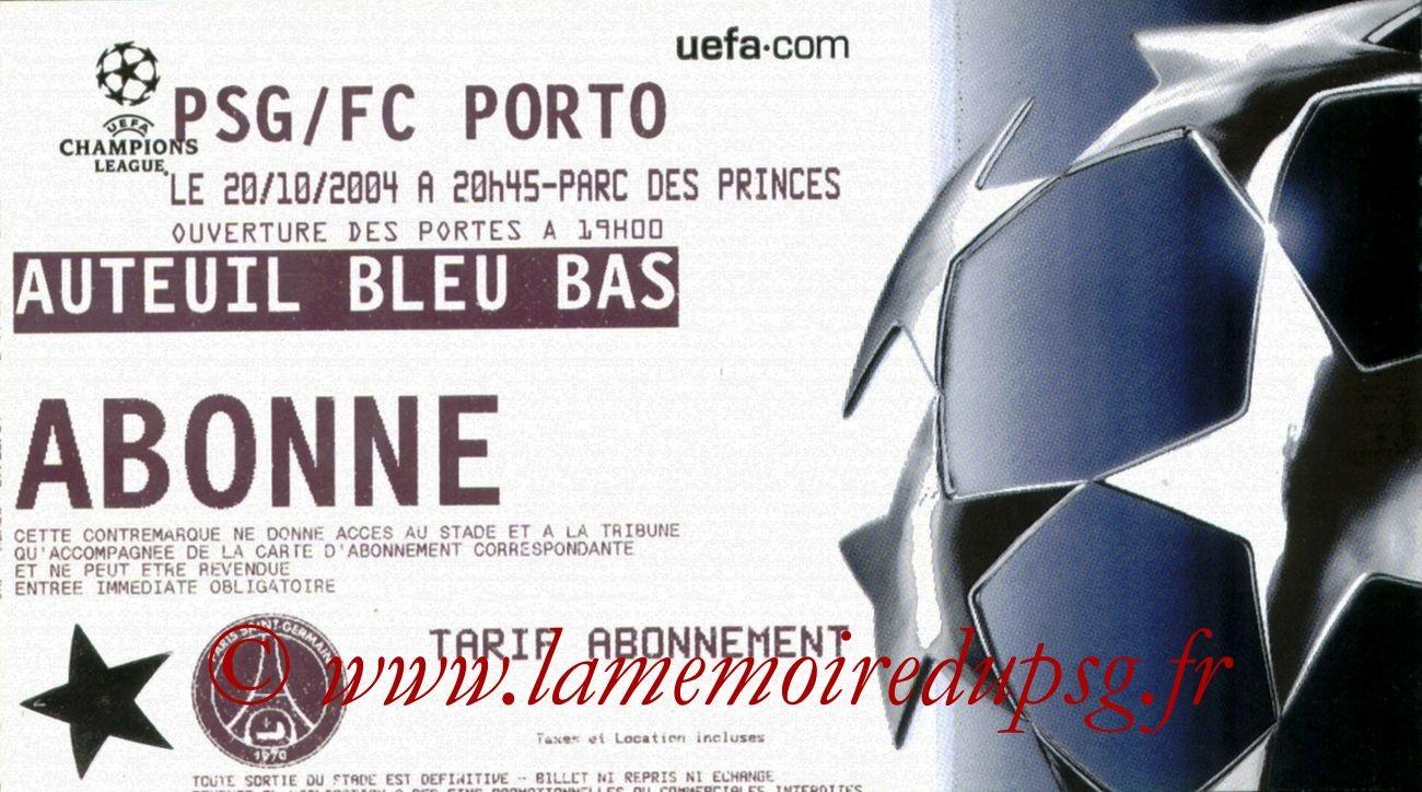 2004-10-20  PSG-FC Porto (3ème Journée Poule C1)
