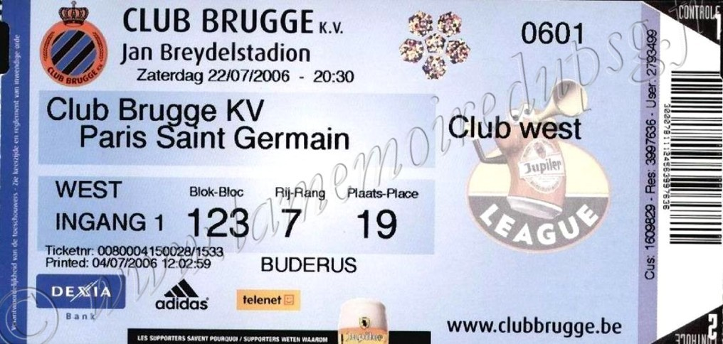 2006-07-22  Bruges-PSG (Amical à Bruges)