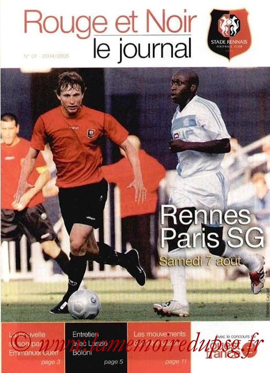 2004-08-07  Rennes-PSG (1ère L1, Rouge et Noir N°1)