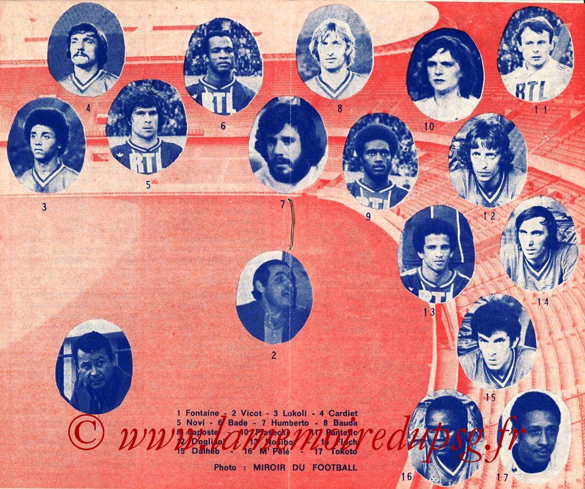1975-76- Guide de la Saison PSG - Pages 06 et 07