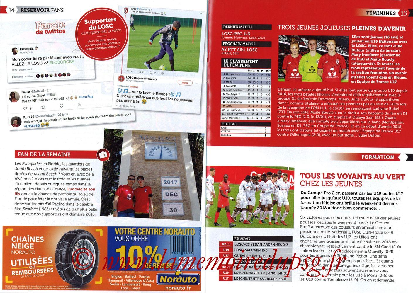 2018-02-03  Lille-PSG (24ème L1, Réservoir Dogues N°82) - Pages 14 et 15