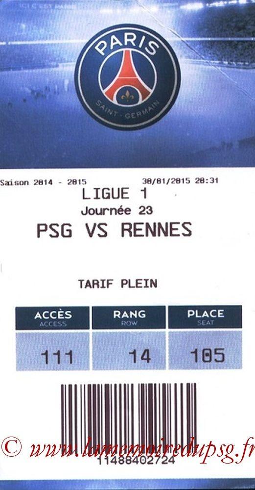 2015-01-30  PSG-Rennes (23ème L1, E- ticket bis)