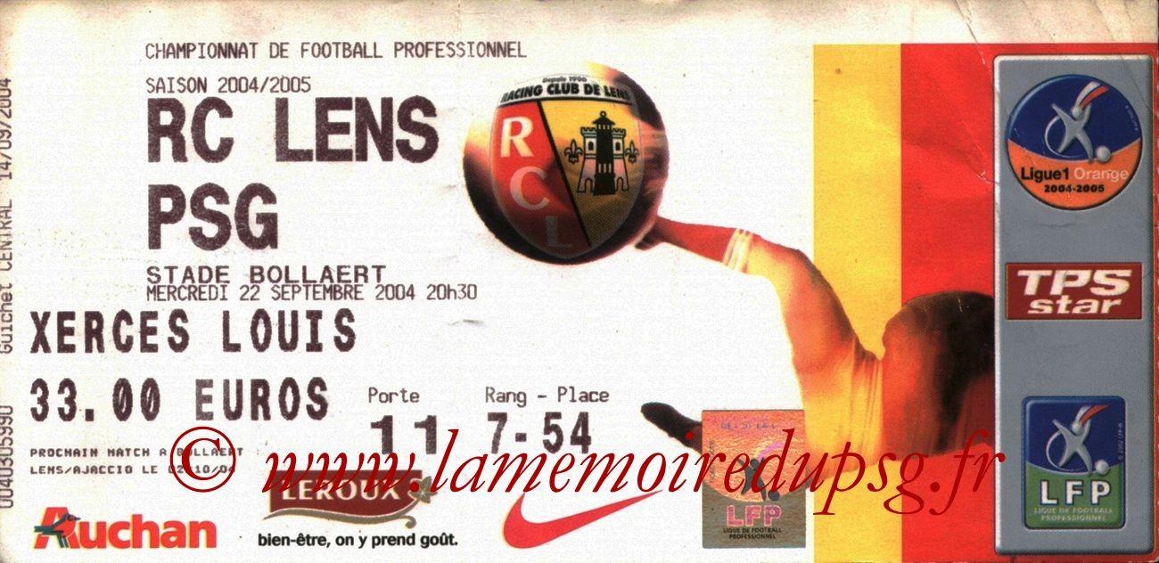 2004-09-22  Lens-PSG (7ème L1)