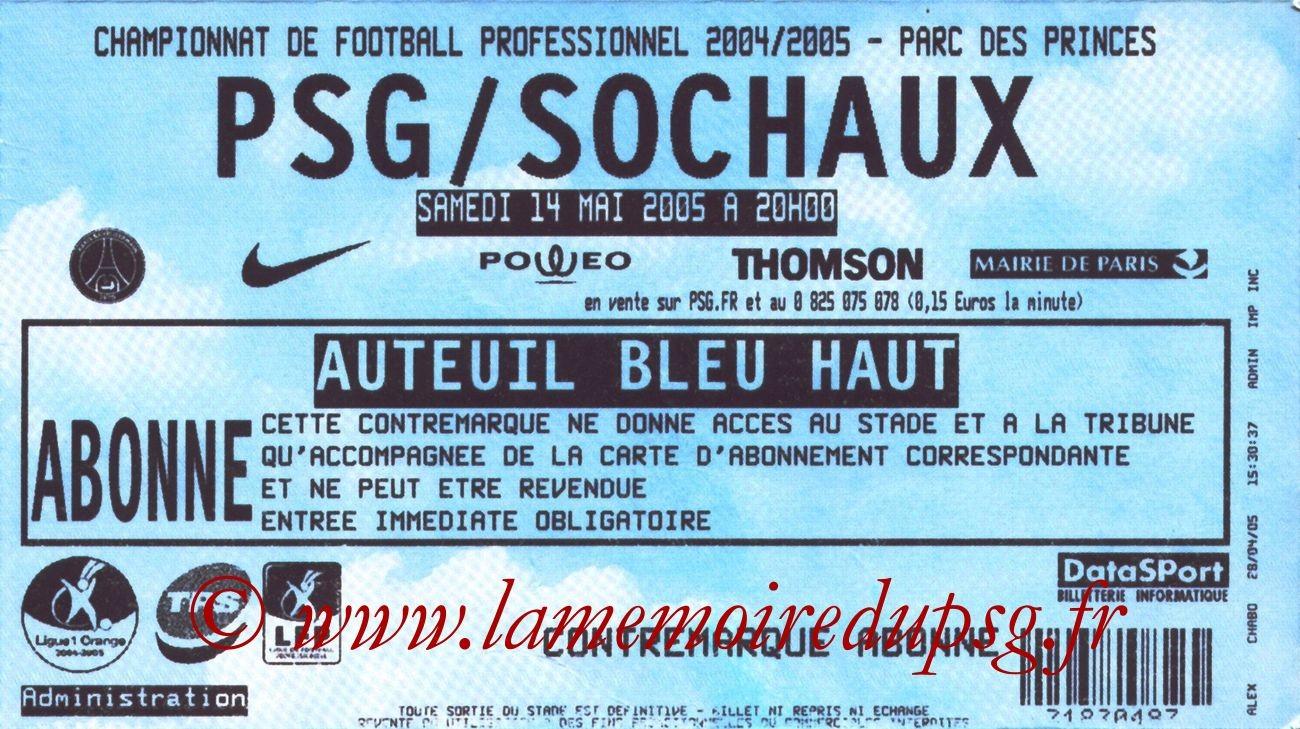 2005-05-14  PSG-Sochaux (36ème L1)