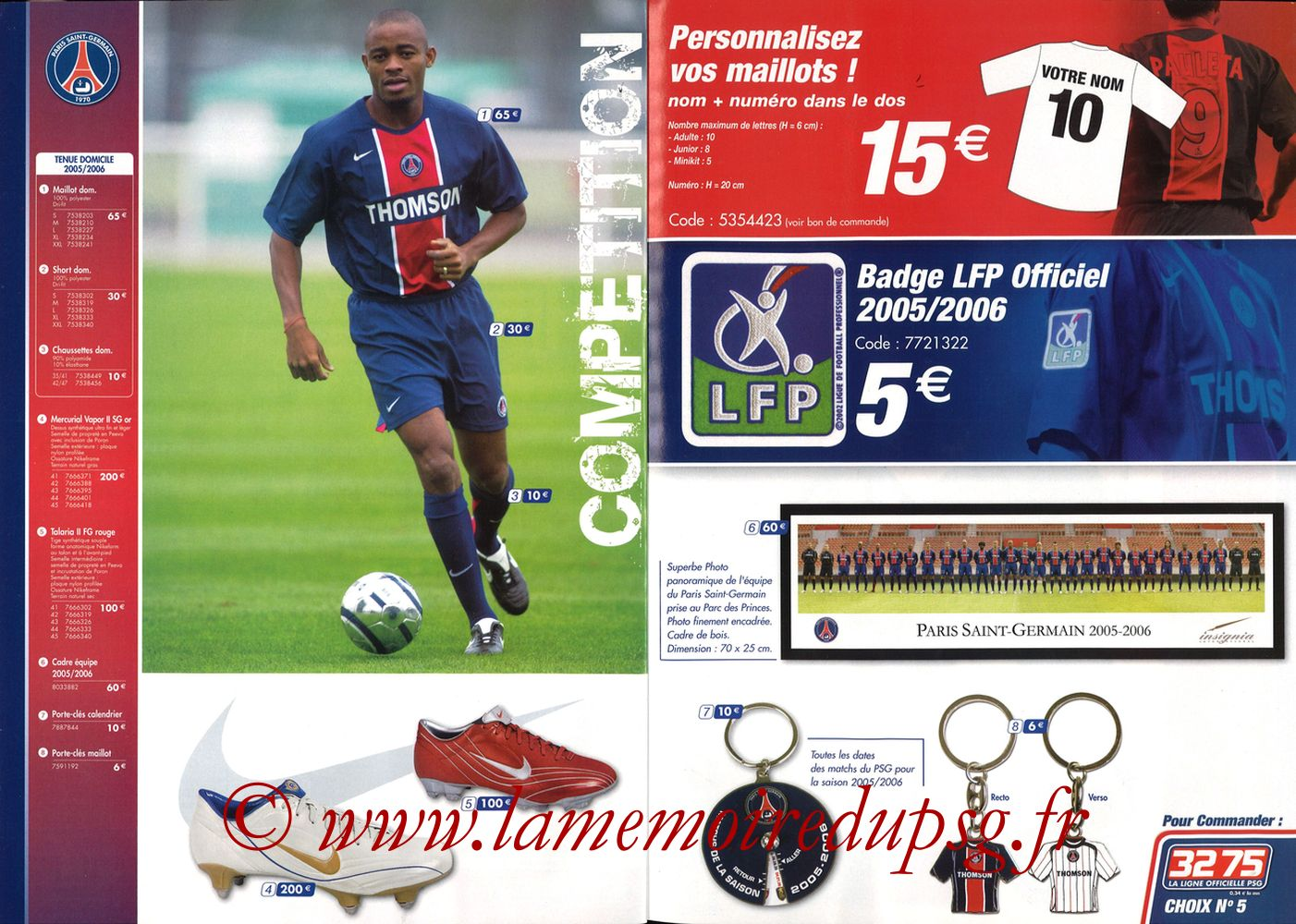 Catalogue PSG - 2005-06 - Pages 04 et 05