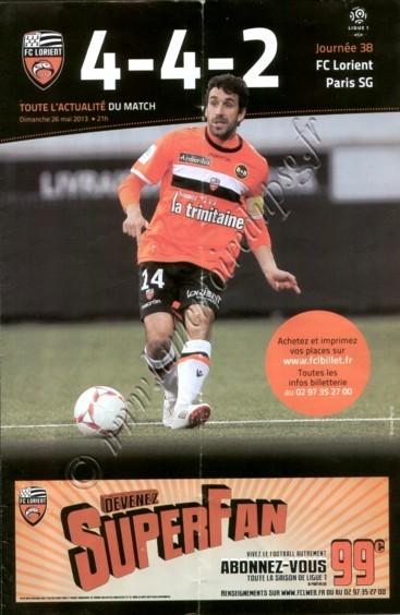 2013-05-26  Lorient-PSG (38ème L1, 4-4-2)