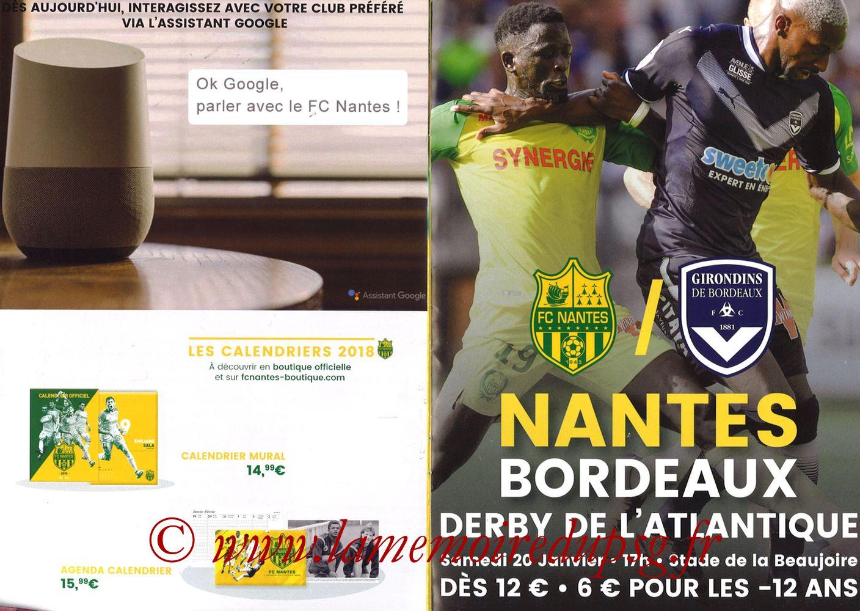 2018-01-14  Nantes-PSG (20ème L1, Programme officiel) - Pages 06 et 07