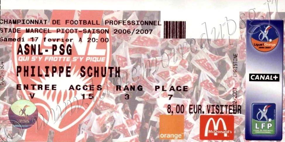2007-02-17  Nancy-PSG (25ème L1)