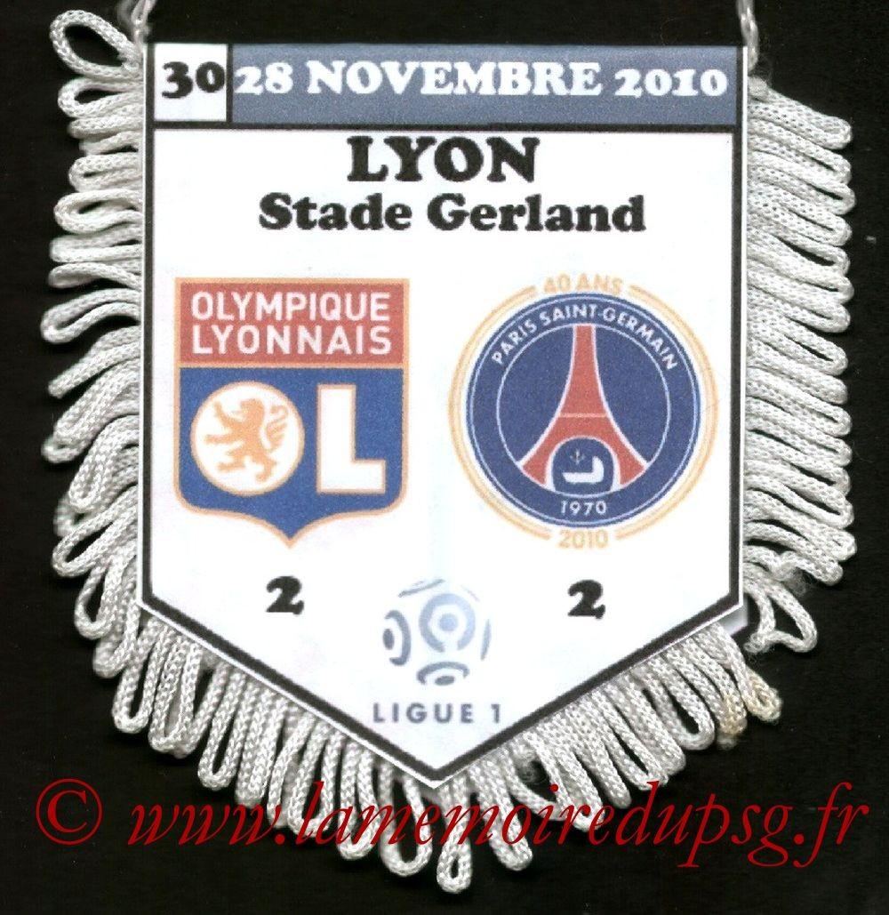 2010-11-28  Lyon-PSG (15ème L1)