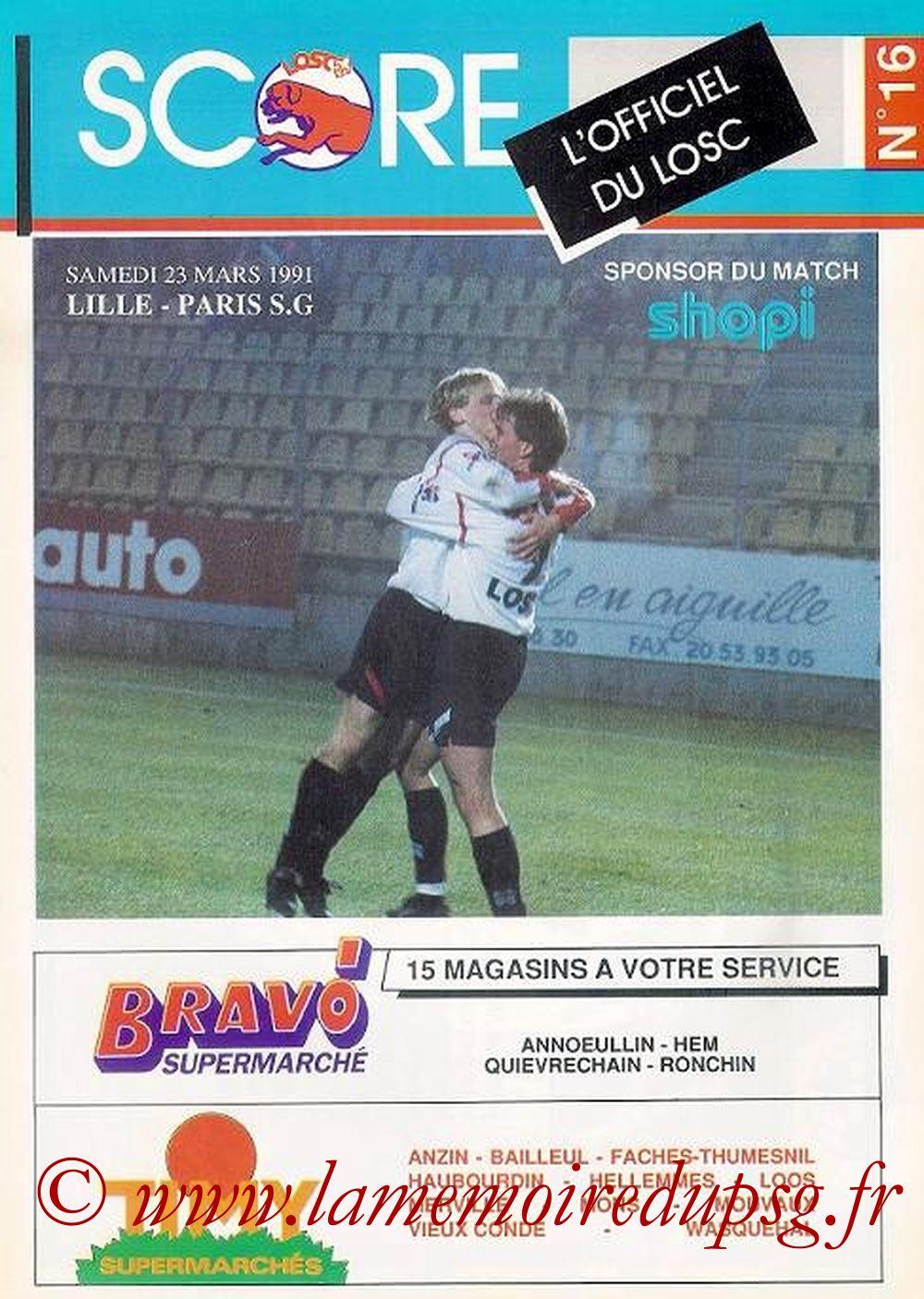 1991-03-23  Lille-PSG (31ème D1, Score N° 16)