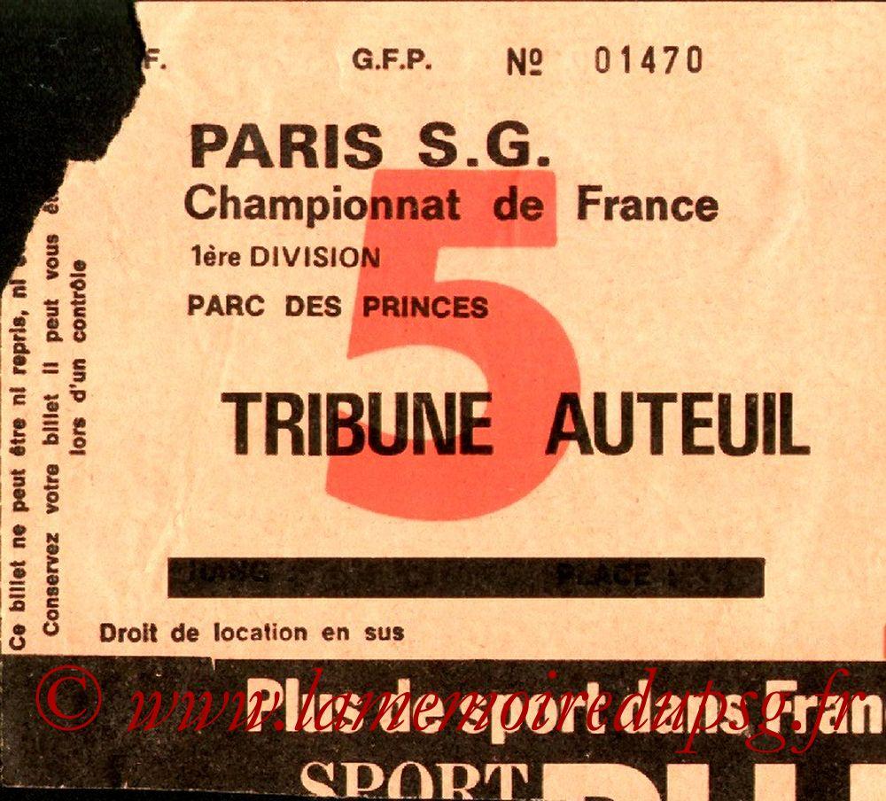 1976-10-23  PSG-Bordeaux (11ème D1, Sans nom N° 5)