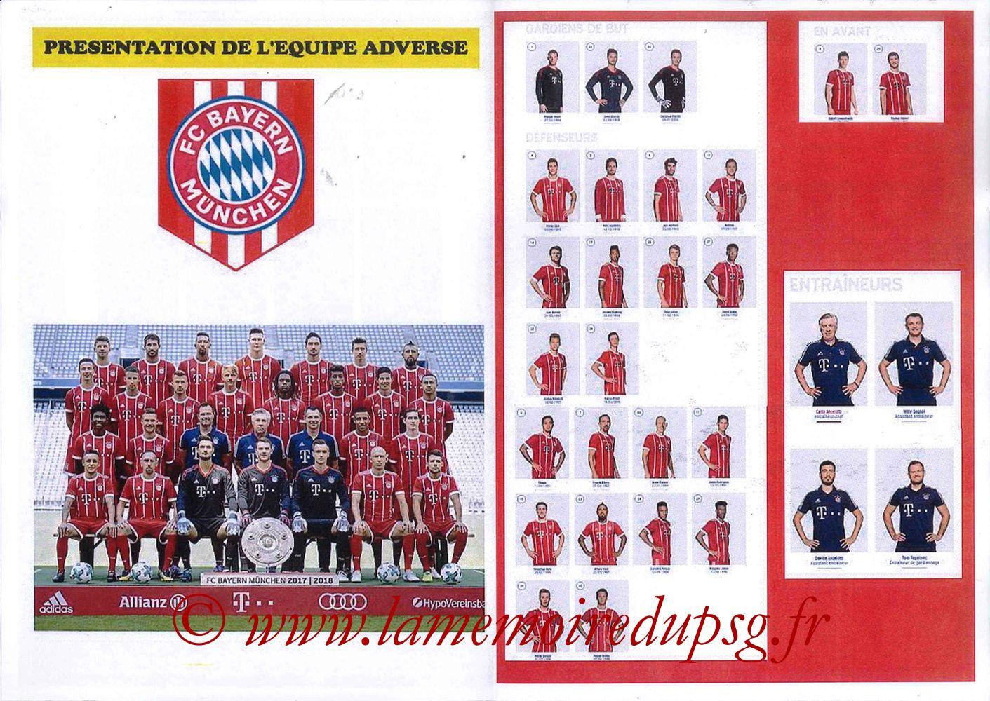 2017-09-27  PSG-Bayern (2ème Poule C1, Programme pirate) - Pages 04 et 05