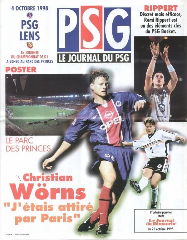 1998-10-04  PSG-Lens (8ème D1, Le Journal du PSG N°63)