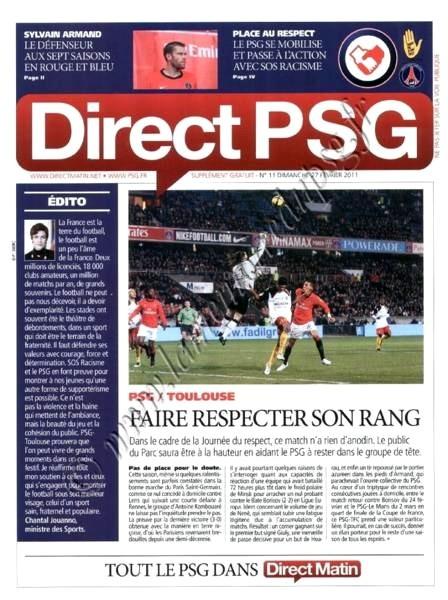 2011-02-27  PSG-Toulouse (25ème L1, Direct PSG N°11)