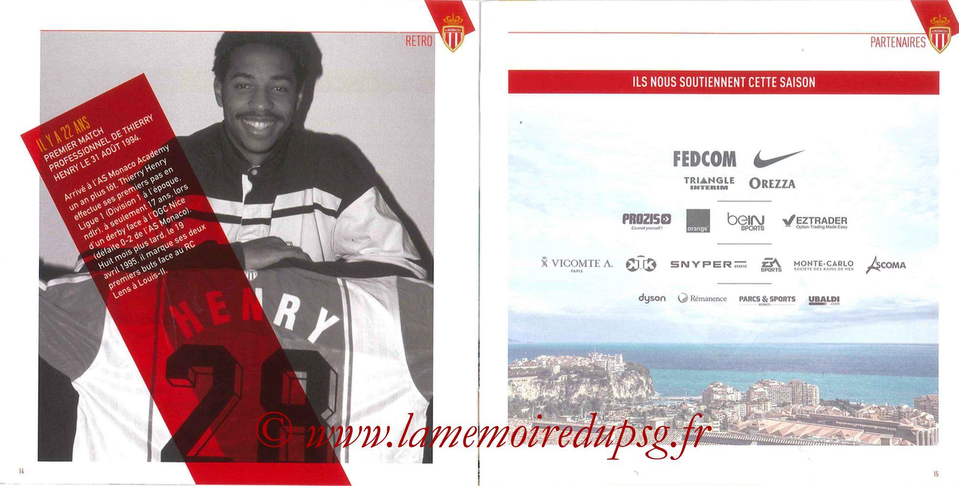 2016-08-28  Monaco-PSG (3ème L1, Programme officiel) - Pages 14 et 15