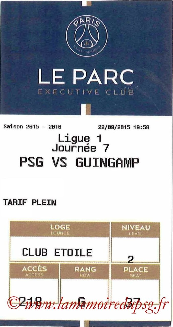 2015-09-22  PSG-Guingamp (7ème L1, E-ticket Executive Club)