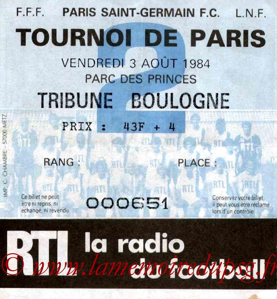 1984-08-03  PSG-Hadjuk Split (Finale Tournoi de Paris)