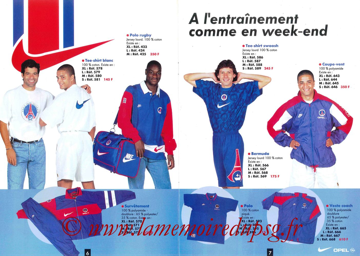Catalogue PSG - 1996-97 - Pages 06 et 07