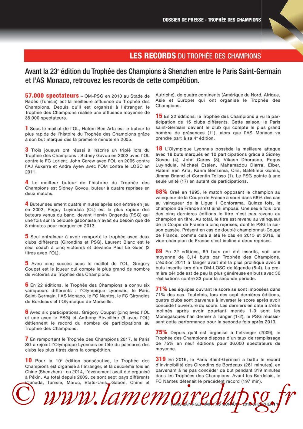 2018-08-04  PSG-Monaco (Trophée des Champions à Shenzhen, Dossier de Presse) - Page 11