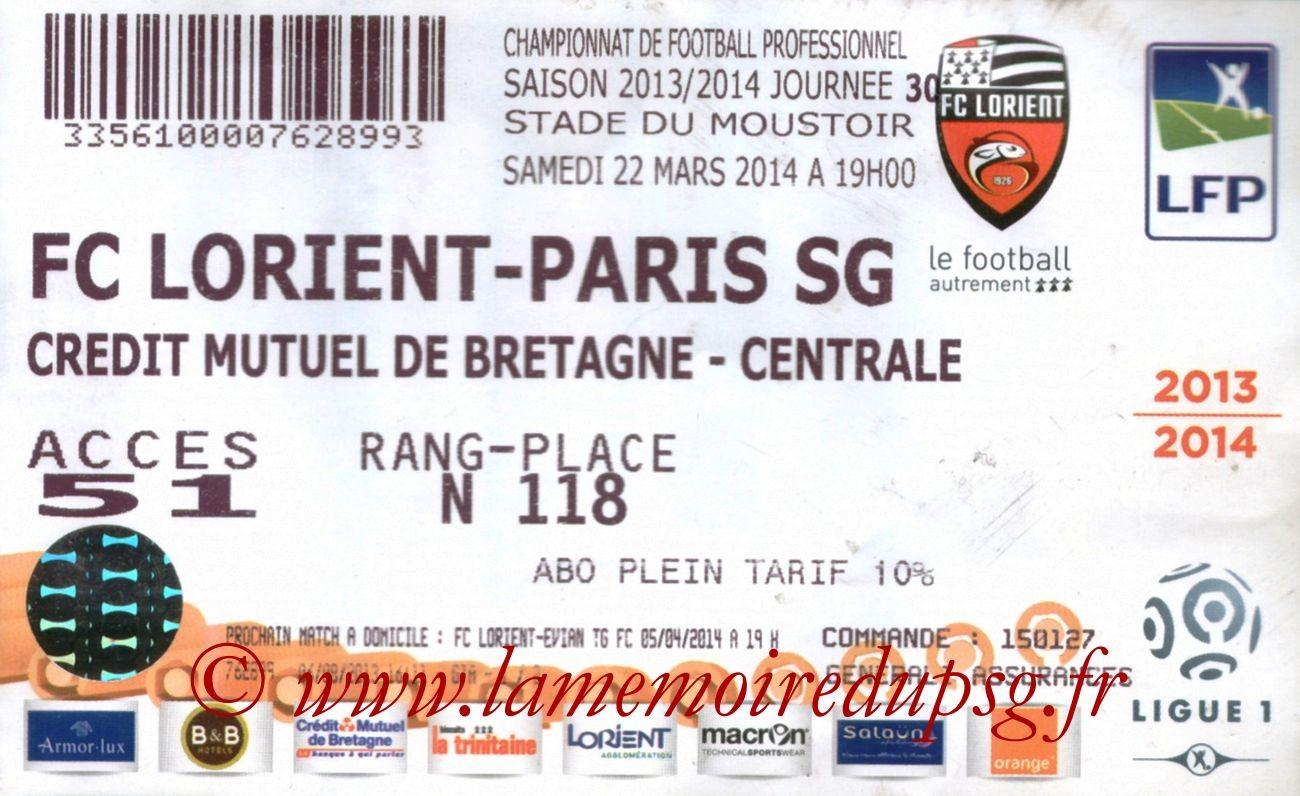 2014-03-22  Lorient-PSG (30ème L1)