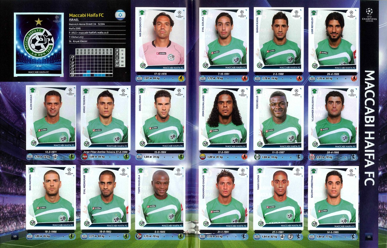 2009-10 - Panini Champions League - Pages 10 et 11 - Maccabi Haifa FC