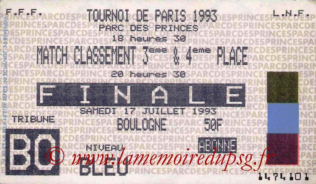 1993-07-17  PSG-Auxerre (Finale 29ème Tournoi de Paris, Sans nom)