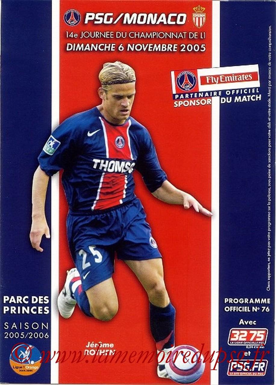 2005-11-06  PSG-Monaco  (14ème L1, Officiel N°76)