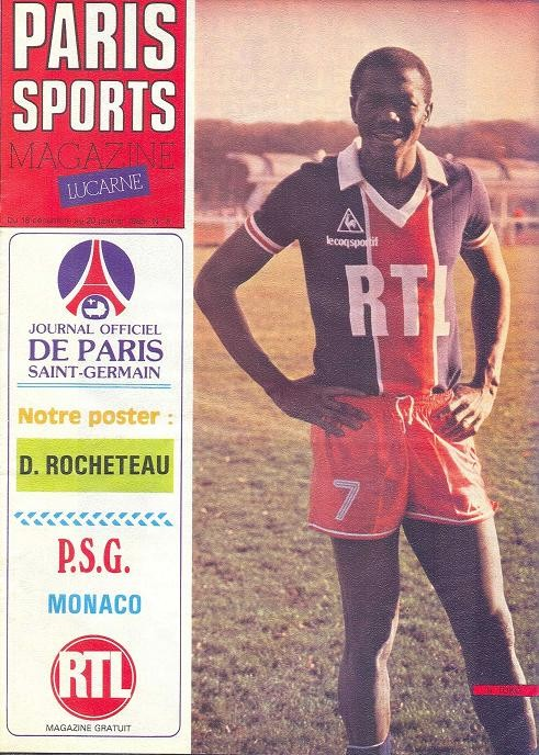 1982-12-18  PSG-Monaco (20ème D1, Paris Sports Magazine N°8)