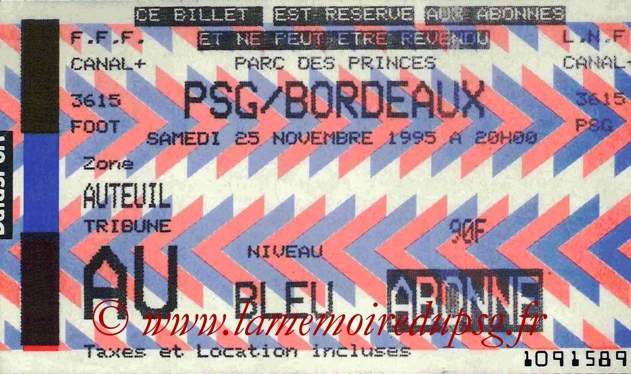 1995-11-25  PSG-Bordeaux (19ème D1, bis)