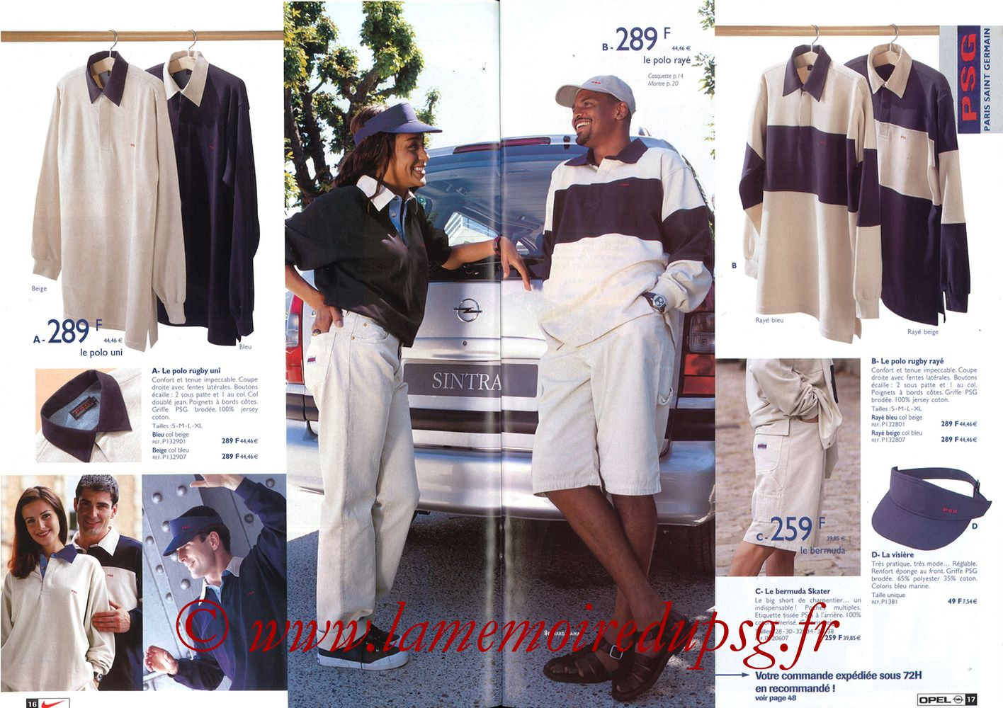 Catalogue PSG - 1998-99 - Pages 16 et 17