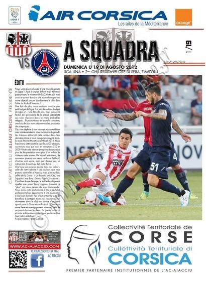2012-08-19  Ajaccio-PSG (2ème L1, A Squadra N°01)