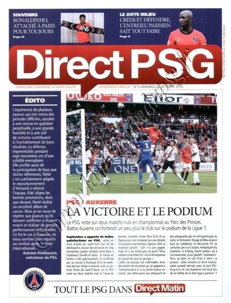 2010-10-24  PSG-Auxerre (10ème L1, Direct PSG N°4)