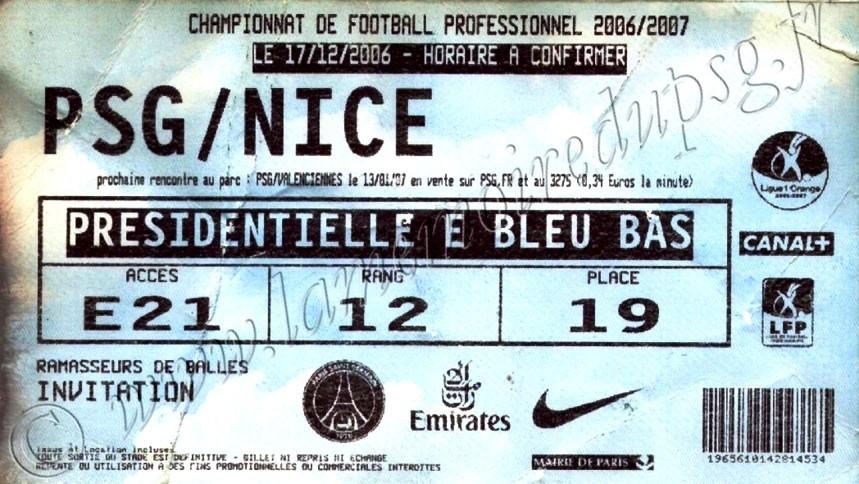 2006-12-17  PSG-Nice (18ème L1, bis)