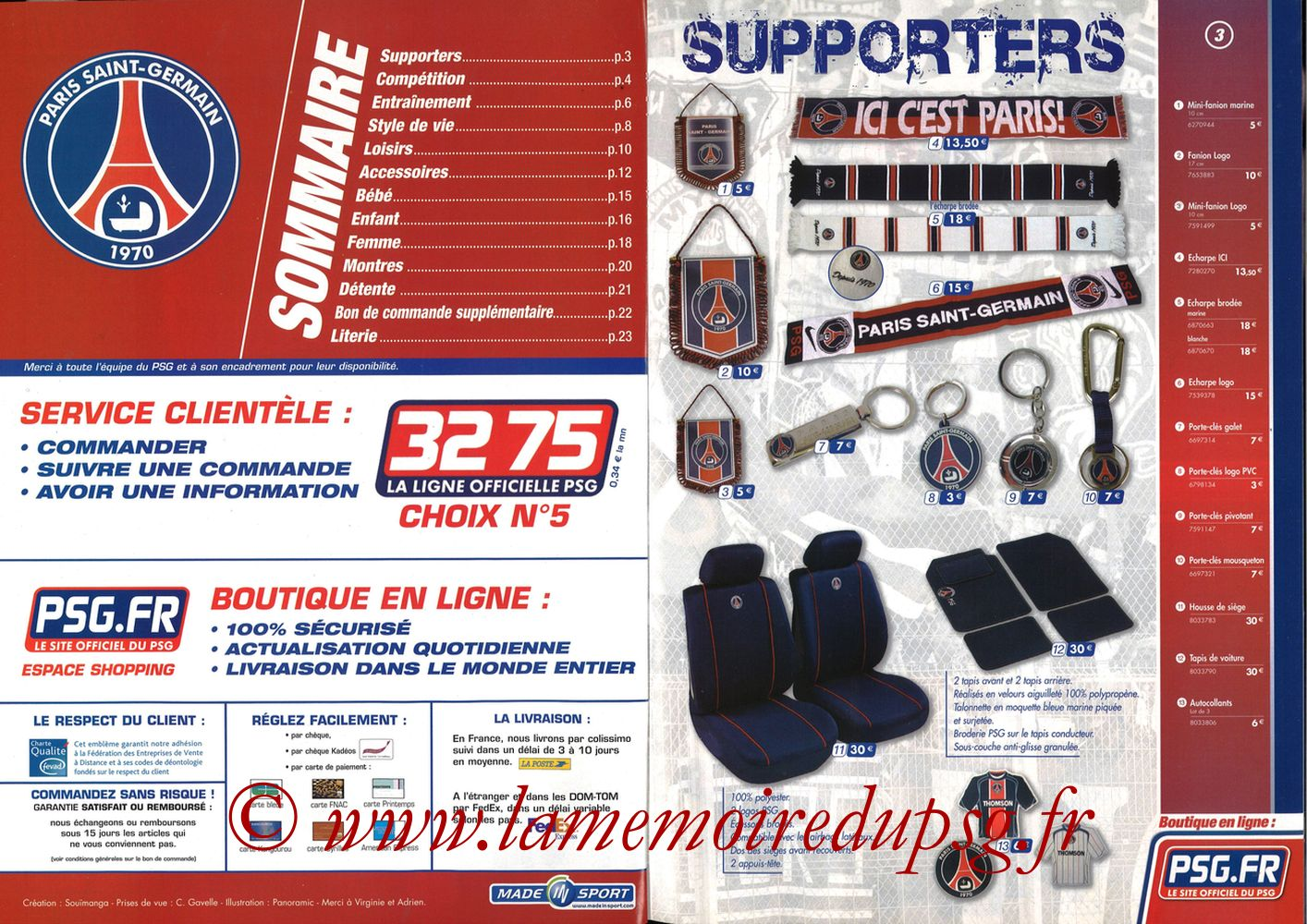 Catalogue PSG - 2005-06 - Pages 02 et 03