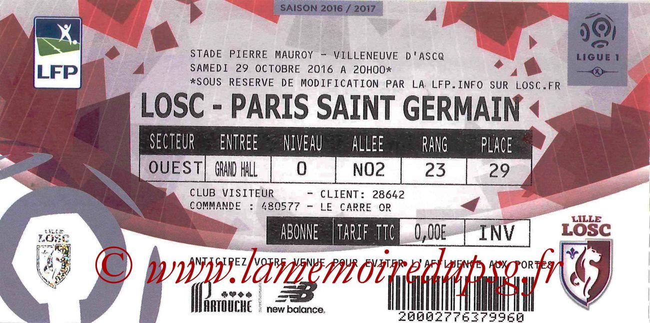 2016-10-28  Lille-PSG (11ème L1,)