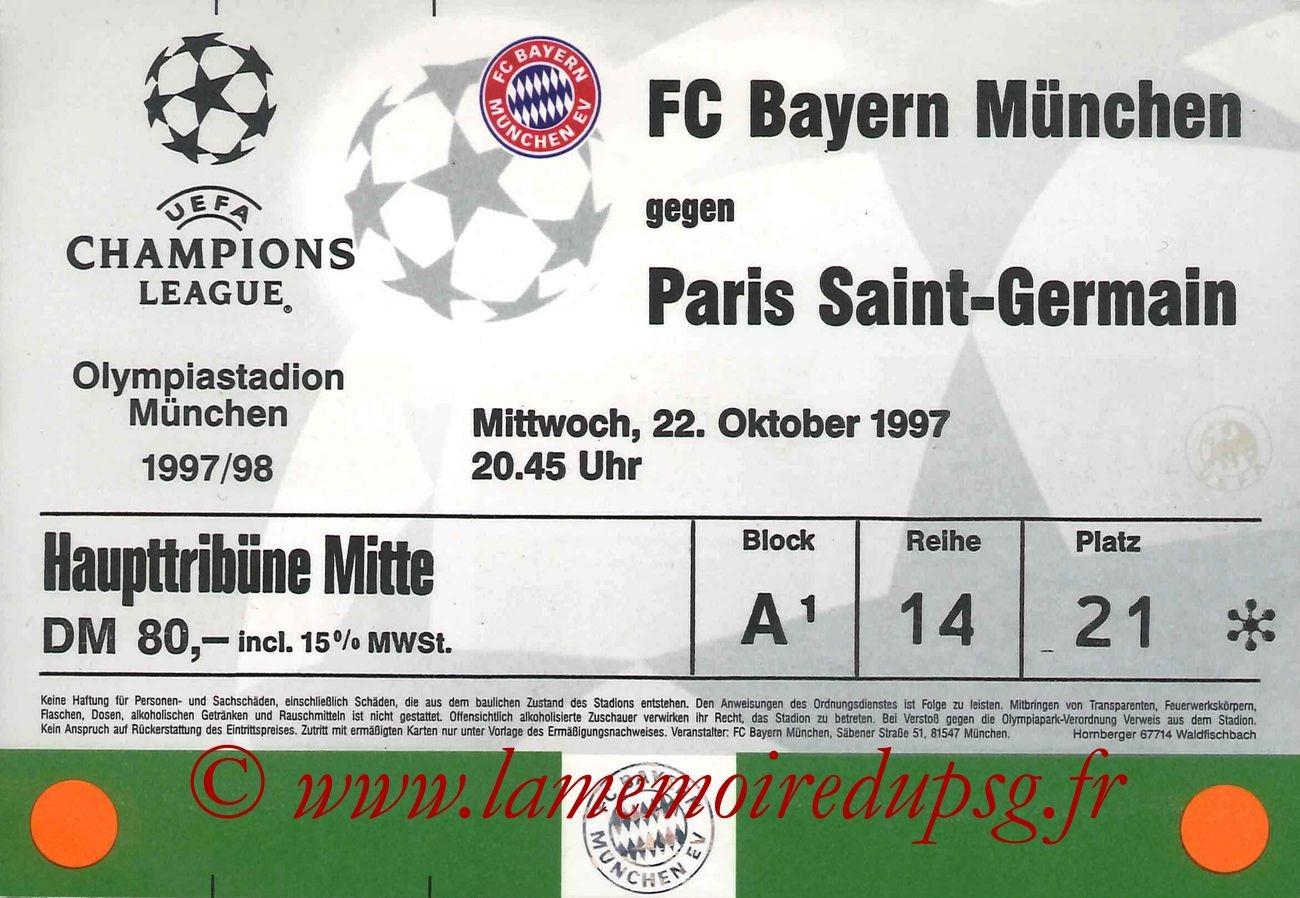 1997-10-22  Bayern Munich-PSG (3ème Journée Poule C1)