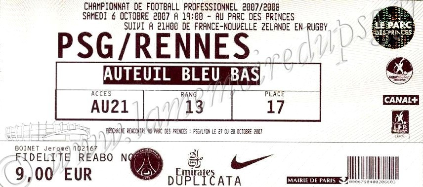 2007-10-06  PSG-Rennes (10ème L1)