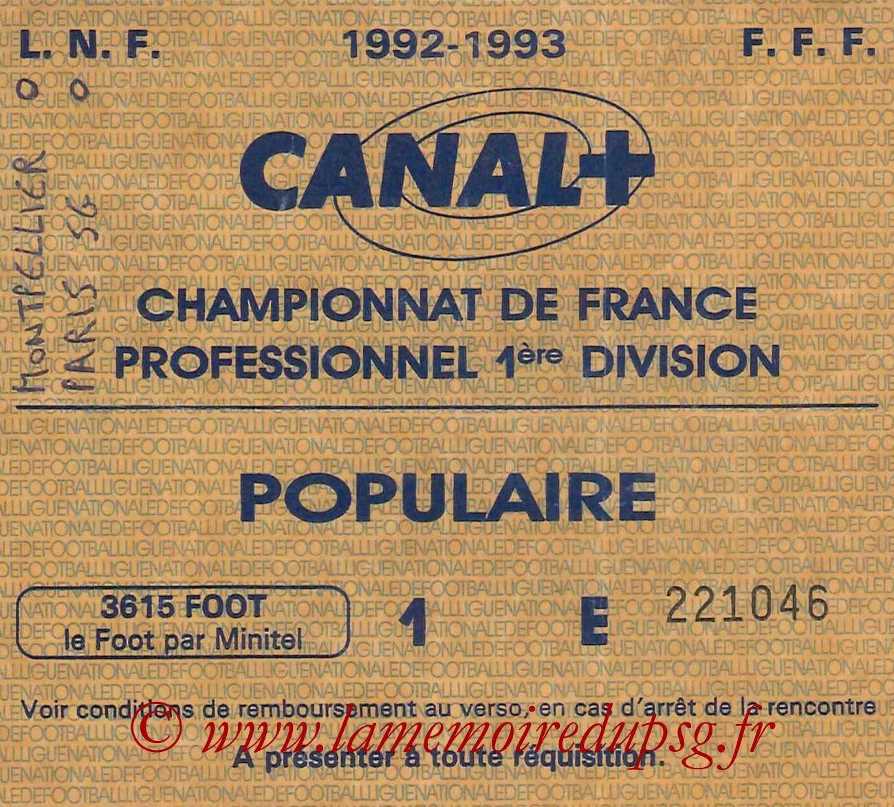 1992-09-19  Montpellier-PSG (7ème D1, Sans nom)