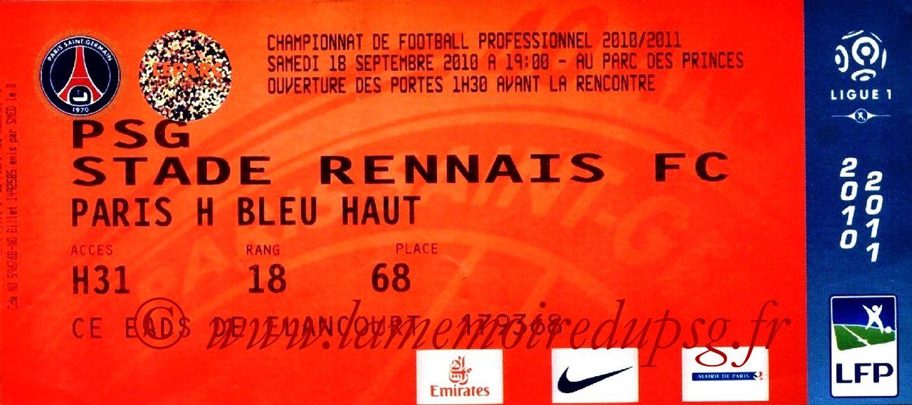 2010-09-19  PSG-Rennes (6ème L1, bis)