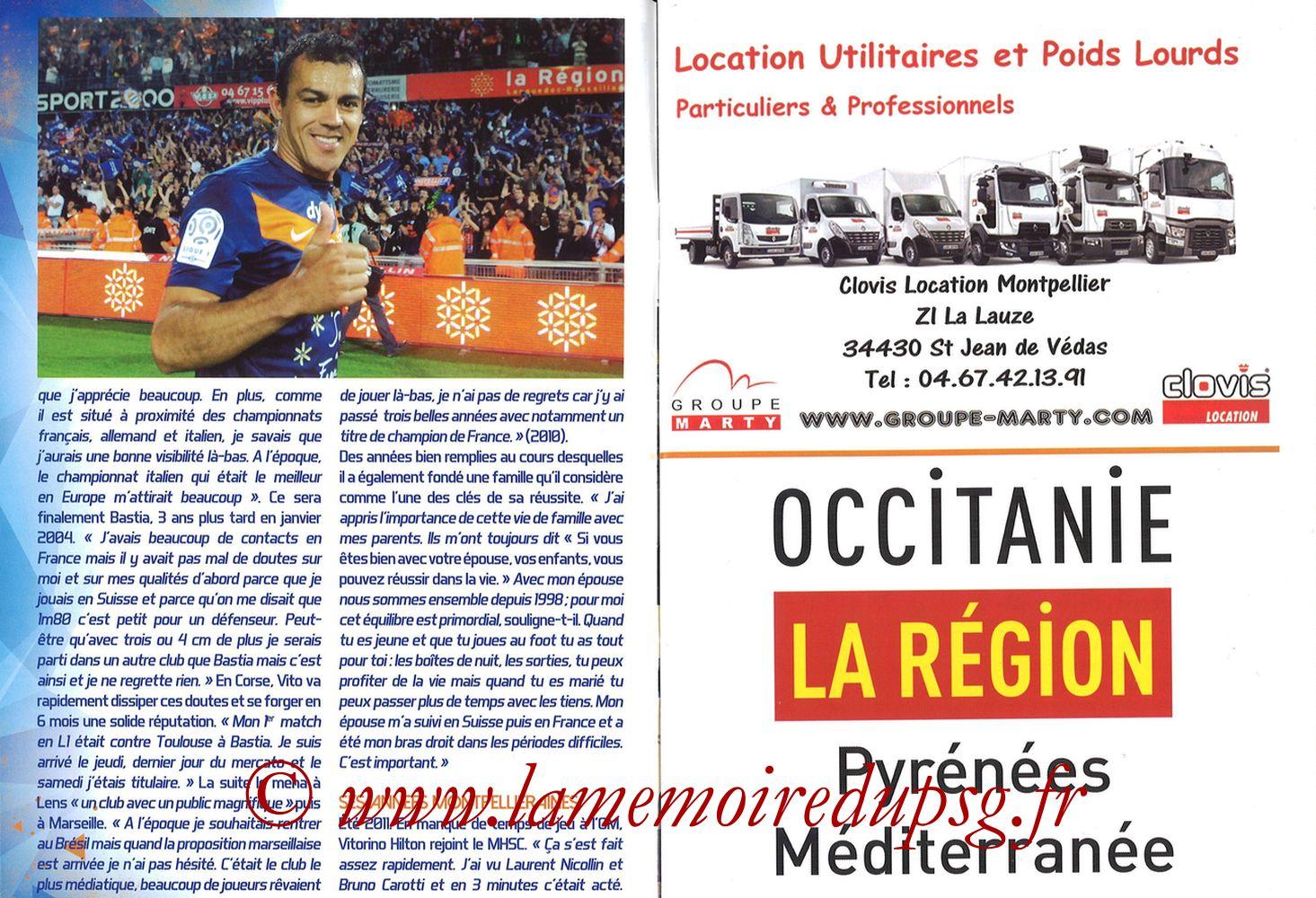 2017-09-23  Montpellier-PSG (7ème L1, L'Echo de la Mosson N°4) - Pages 04 et 05