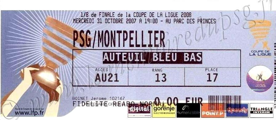 2007-10-31  PSG-Montpellier (8ème Finale CL)