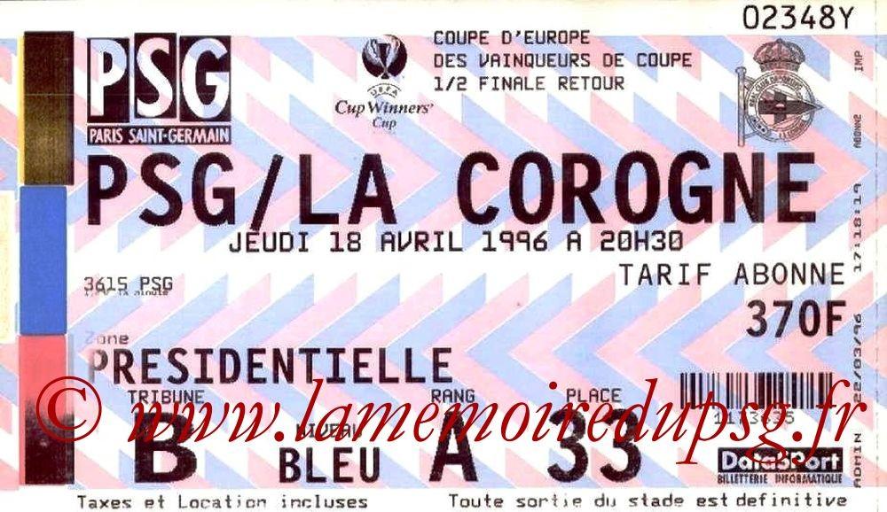 1996-04-18  PSG-La Corogne (Demi-Finale Retour C2)