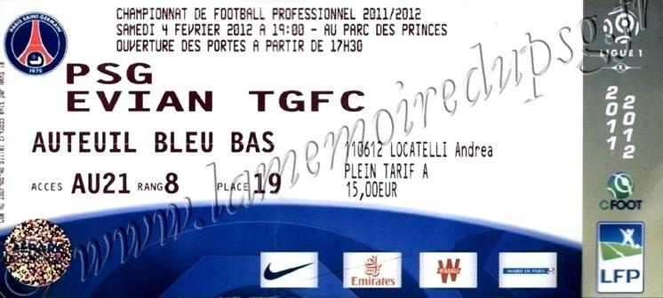 2012-02-04  PSG-Evian TG (22ème L1)