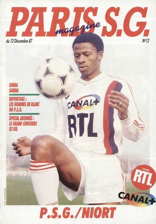 1987-12-12  PSG-Niort (23ème D1, Paris SG Magazine N°12)
