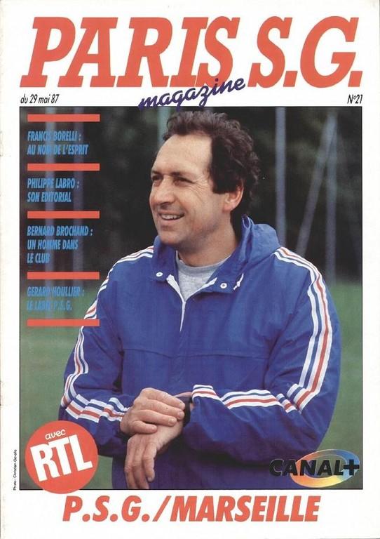1987-05-29  PSG-Marseille (37ème D1, Paris SG Magazine N°21)