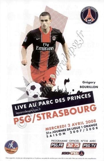 2008-04-02  PSG-Strasbourg (31ème L1, match en retard, Officiel N°118)